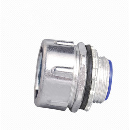Plum type male flexible conduit connector - Aluminum