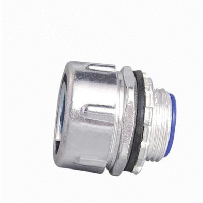 Plum type male flexible conduit connector - Aluminum