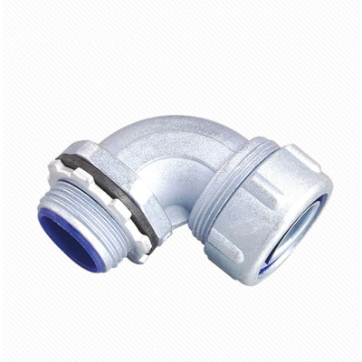 Plum Type 90 Degree Flexible Conduit Connector