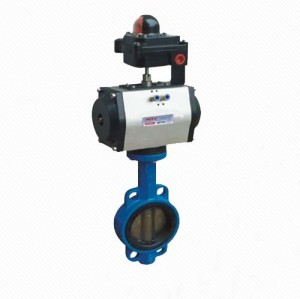 D671X DN50 wafer connection pneumatic butterfly valve