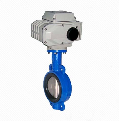 D971X Wafer Type Electric Butterfly Valves With Electical Actuator