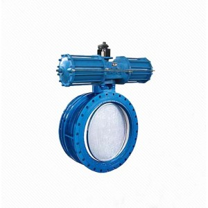 DS641 Pneumatic motor gearbox drive telescopic flange butterfly valve