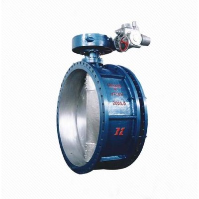 DS941 Cast Iron Electric PTFE seat flanged telescopic butterfly valve