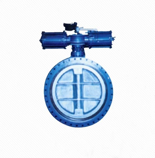 D641X/J Pneumatic Gear operated double eccentric flange center line butterfly valve