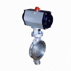 D672X/J Wafer Eccentric Pneumatic Rubber Seal Butterfly Valve