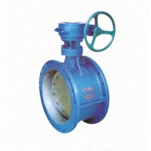 D342X/J Reliable Zero Leakage Casting Eccentric Worm Gear Drive Flanged Butterfly Valve