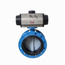 D642X/J Ductile Iron Eccentric Worm Gear PTFE Seal Stainless Steel Stem Pneumatic Butterfly Valve
