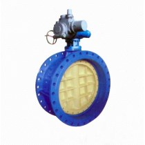 D942X/J Eccentric Worm Gear Rubber Seal Electric Flanged Butterfly Valve