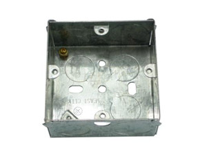 Steel electrical junction box with mixed knockouts