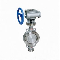 DT373H DN200 Water Eccentric Elastic Metal Seal Wafer Butterfly Valve