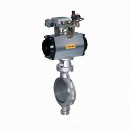 DT673H Eccentric Elastic Metal Seal Wafer Pneumatic Butterfly Valve