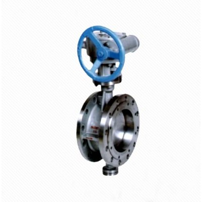DT343H Water system stainless steel Eccentric Elastic Metal Seal Flanged Butterfly Valve