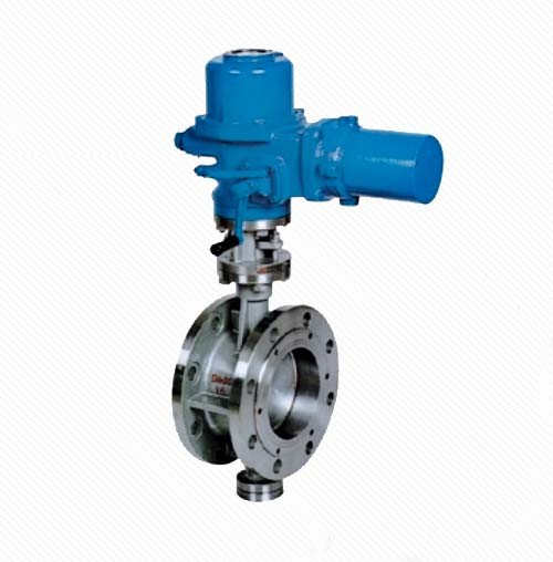 DT943H Eccentric Elastic Metal Seal Electric Flanged Butterfly Valve