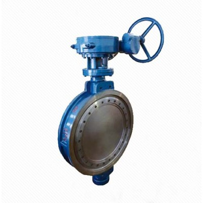 Dd373H DN50-2000 0.6-4.0 MPa Triple Eccentric Wafer Butterfly Valve