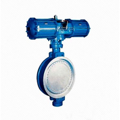 Dd673H Triple Eccentric Multi-layer Metal Seal Pneumatic Wafer Butterfly Valve