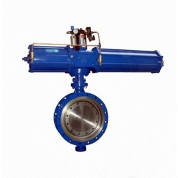 Dd643H Triple Eccentric Multi-layer Metal Seal Pneumatic Flanged Butterfly Valve