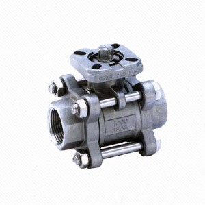 Q11F Electric Actuator Stainless steel manual NPT threaded 3pc ball valve