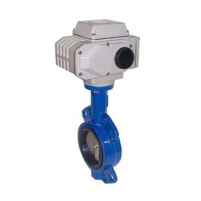 D971X electric actuator wafer type soft seal steam butterfly valve