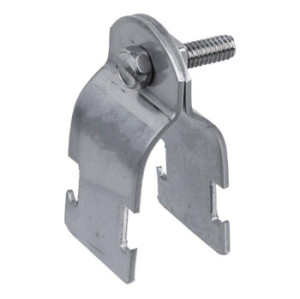 ECC Type Galvanized Steel Pipe Strut Clamp with Fixing Screw