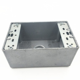 Electrical steel junction box type outlet boxes