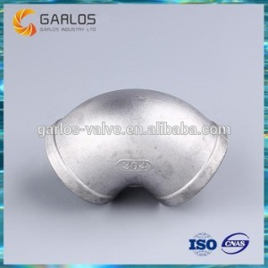 Stainless steel 316 pipe fitting screwed elbow