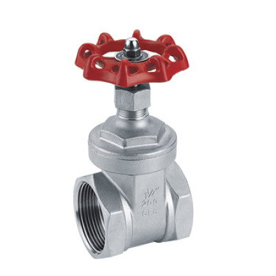 Wheel handle hiding stem screw type gate valve
