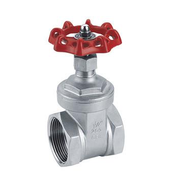 Wheel handle hiding stem screw type gate valve