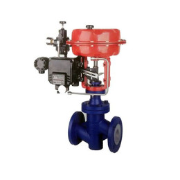 Pneumatic lining ptfe temperature pressure flow control valve