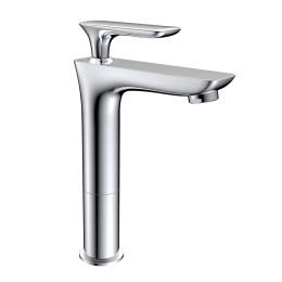 Single handle mixer water chrome finishing bathroom sanitary basin faucet