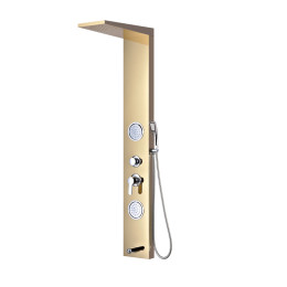 Wall Mounted Multifunction 304 Stainless Steel Rainfall Shower Panel