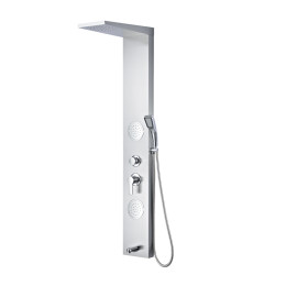 Rainfall Shower Column Set Stainless Steel Thermostatic Shower Panel
