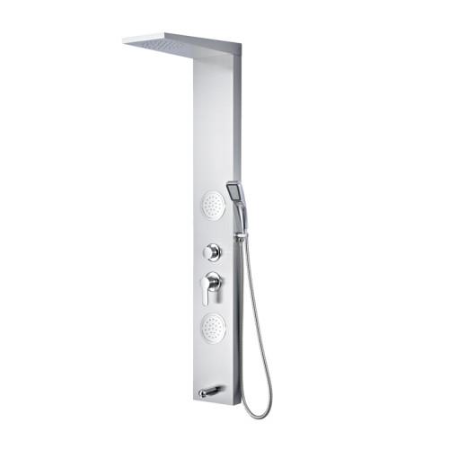Rainfall Shower Column Set Stainless Steel Thermostatic Shower Panel