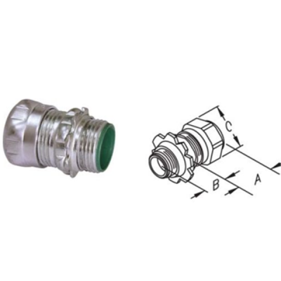 Steel Compression Connectors With Insulated Throat