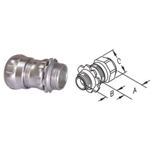 EMT Electrical conduit fitting Steel Compression Connectors