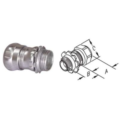 EMT Electrical conduit fitting Steel Compression Connectors