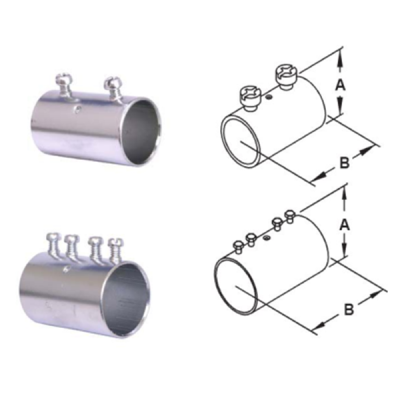 EMT Conduit fitting Steel Compression Couplings