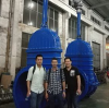 Our client comes factory to check gate valve, today is the shippment date.