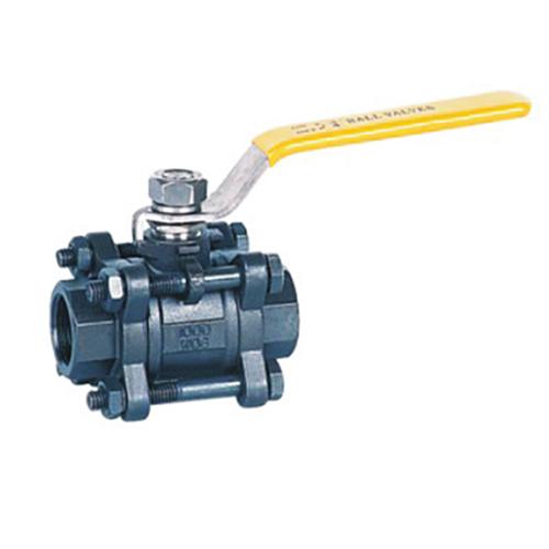 3pcs WCB carbon steel ball valve