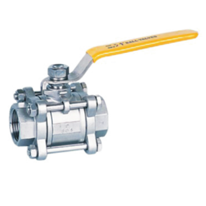 3pcs type stainless steel ball valves
