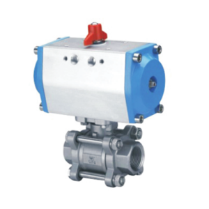 Electric control 3 PC stainless steel high mounting pad ball valve