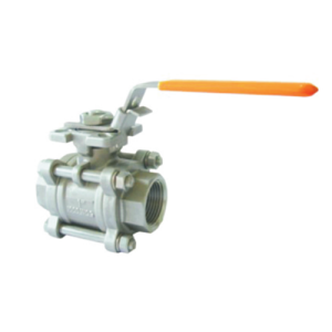 Handle 3 PC stainless steel high mounting pad ball valve