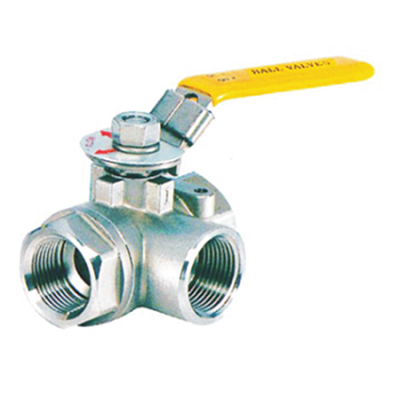 1000 wog 3 way stainless steel ball valves