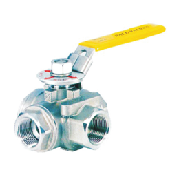 1000 wog 200 PSI T type 3 way stainless steel ball valve
