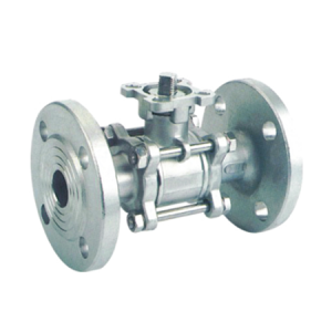 3PC Ball valve with flange and high mounting pad