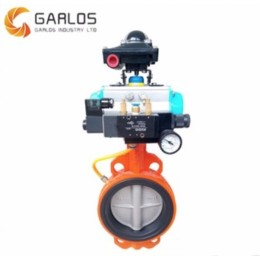 SS 316 Pneumatic Wafer butterfly valve