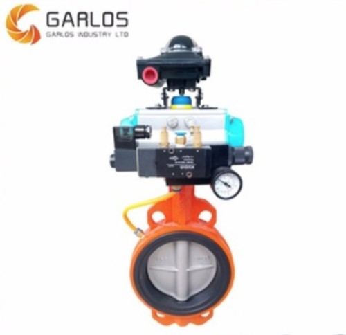 SS 316 Pneumatic Wafer butterfly valve
