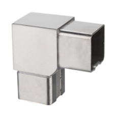 square 90° corner tube connector