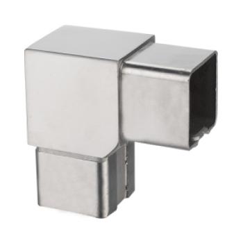 square 90° corner tube connector