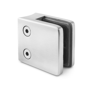 square glass clamp curved mount