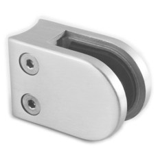 304 Stainless Steel Glass clamp 45x63 curved mount